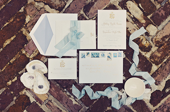 blue wedding ivitations @weddingchicks