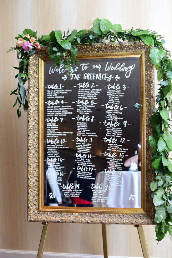 seating sign @weddingchicks
