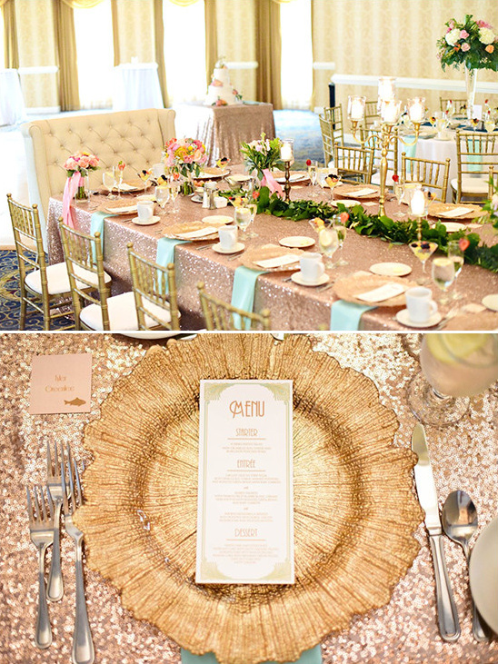 gold table decor @weddingchicks