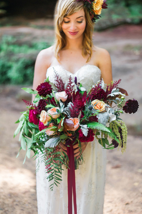 fall wedding bouquet @weddingchicks