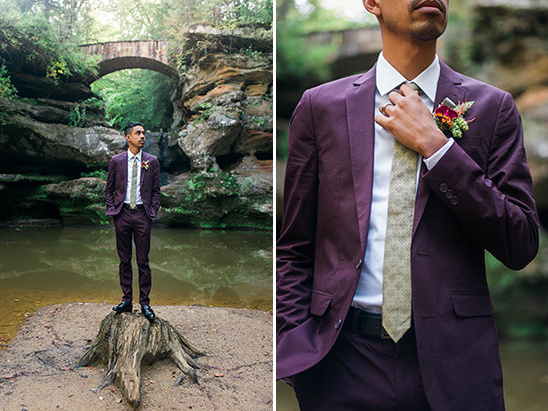 purple suit @weddingchicks