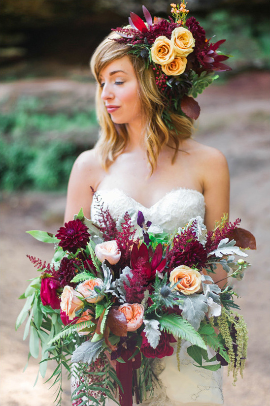 fall wedding flowers @weddingchicks