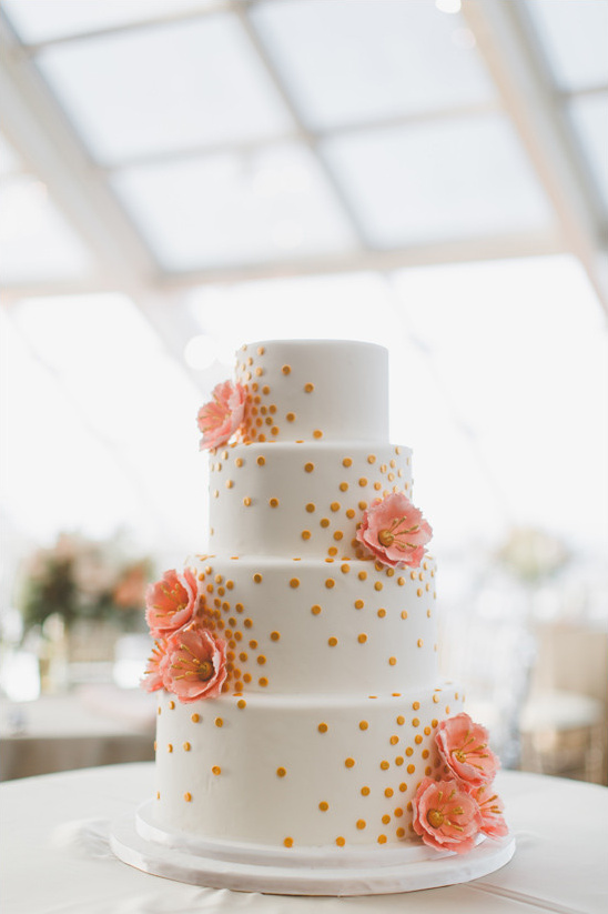 peach white and silver wedding cake modern and silver wedding in chicago 18154