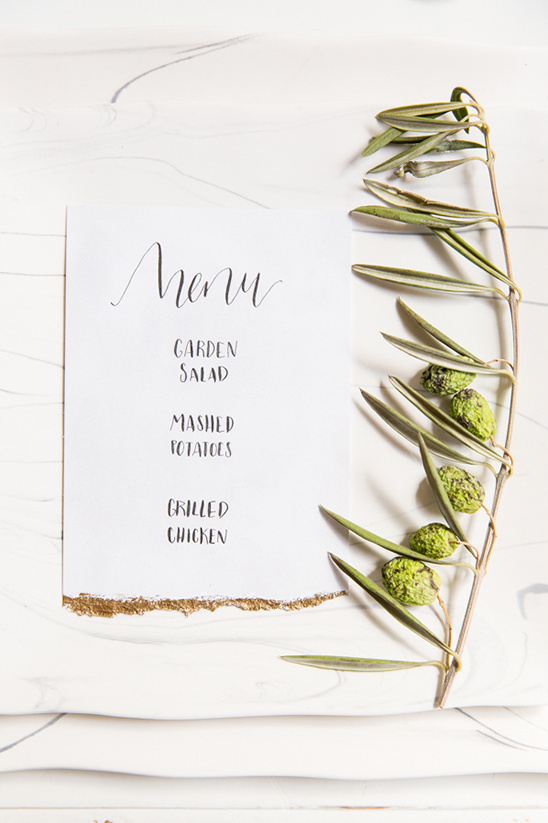 simple wedding menu @weddingchicks