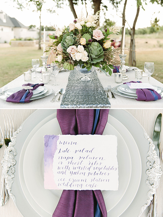 purple wedding accents @weddingchicks
