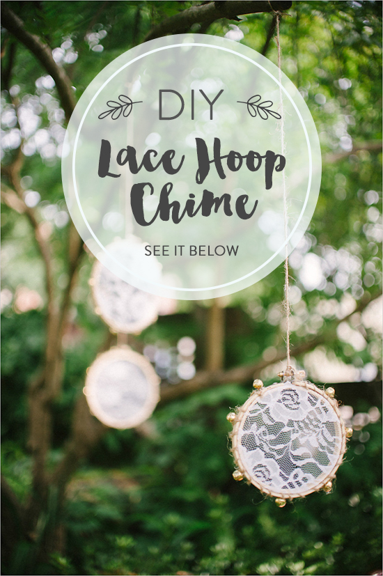 DIY Lace Hoop Chime @weddingchicks