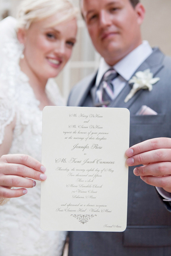 traditional wedding invitation @weddingchicks