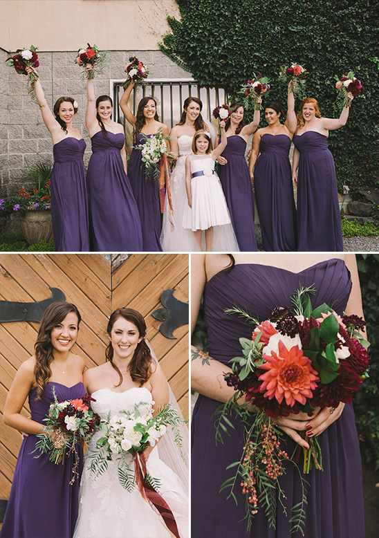 purple bridesmaid dresses @weddingchicks
