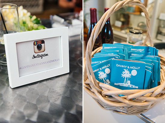 instagram and favors @weddingchicks