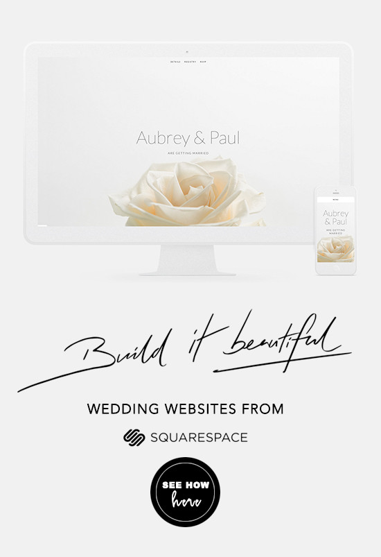 squarespace wedding website @weddingchicks