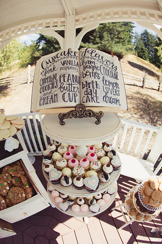 cupcake flavor sign @weddingchicks