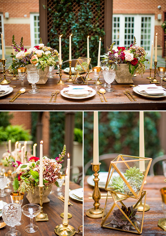 modern wedding table decor @weddingchicks