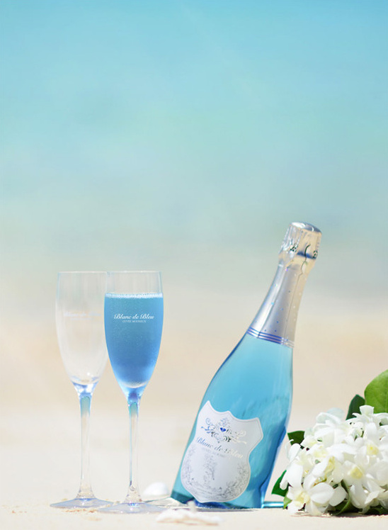 Blue Bubbly From Blanc de Bleu