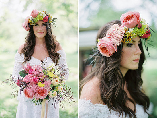 flower halo @weddingchicks