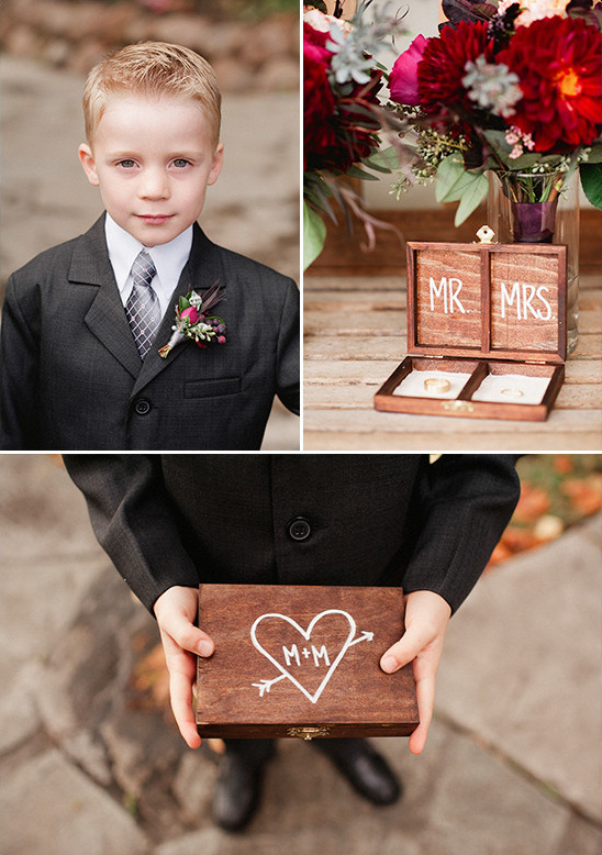 ring bearer with ring box @weddingchicks