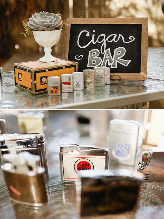 cigar bar @weddingchicks