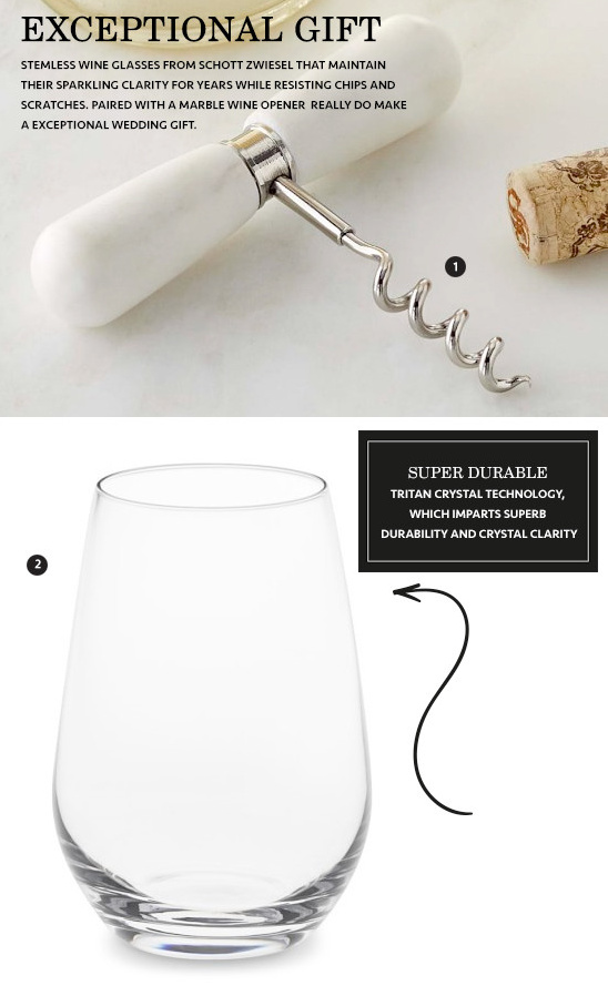 Williams-Sonoma wedding registry ideas