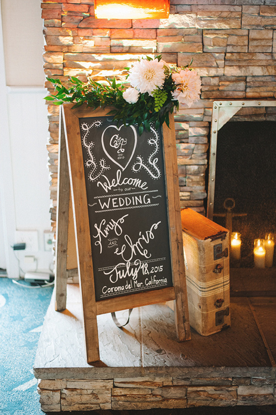 wedding chalk board sign @weddingchicks
