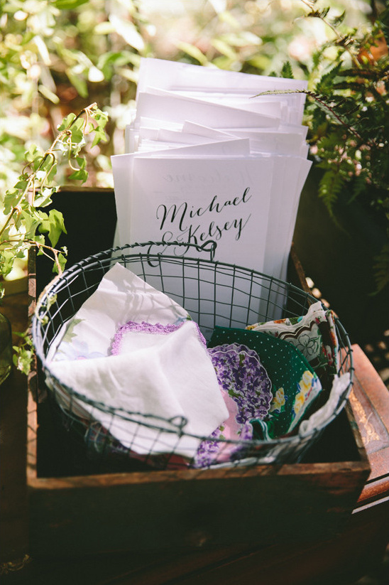 wedding programs and hankies @weddingchicks