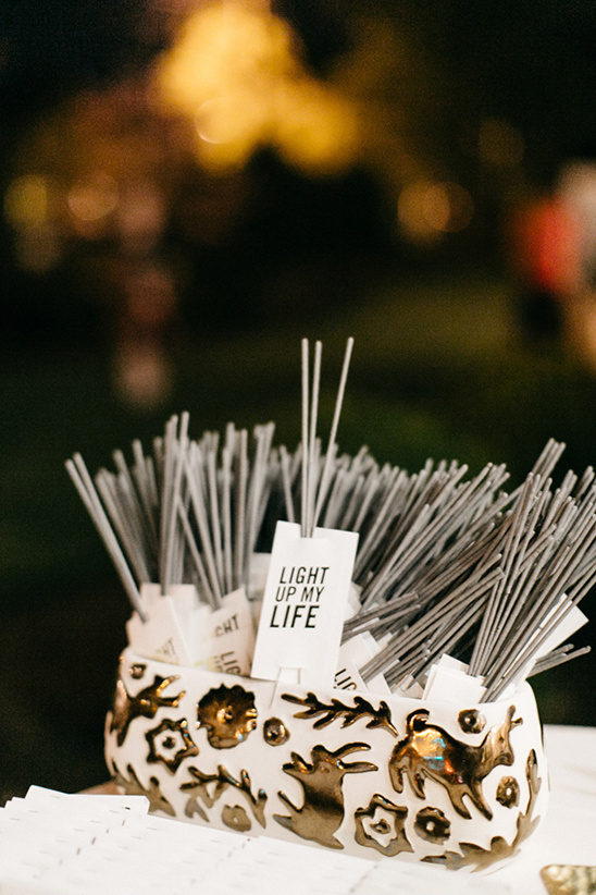 sparkler exit tags @weddingchicks