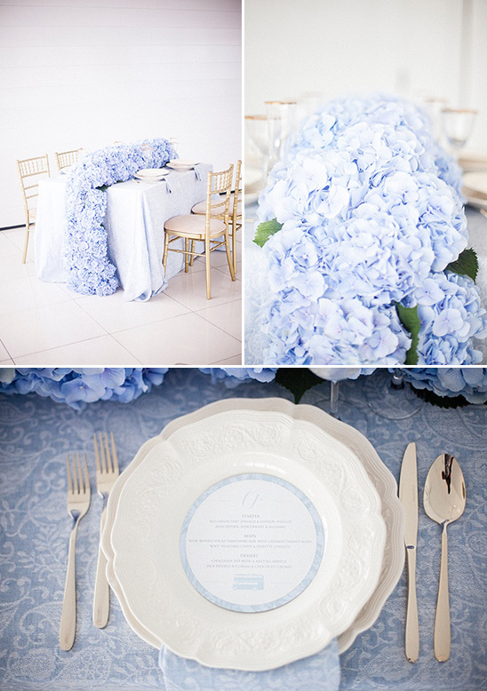 blue and white reception idea @weddingchicks