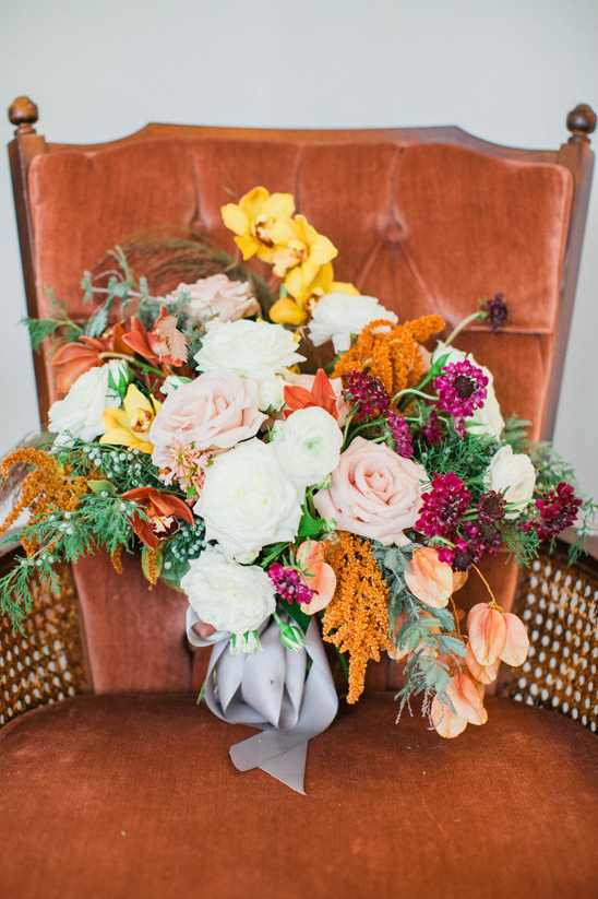 fall bouquet @weddingchicks