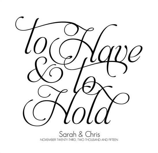 fancy font guest book poster @weddingchicks