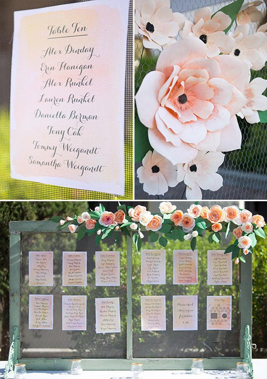 table assignment display @weddingchicks