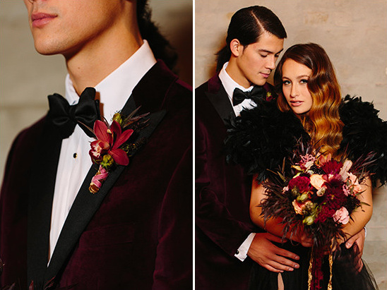 maroon velvet groom jacket @weddingchicks