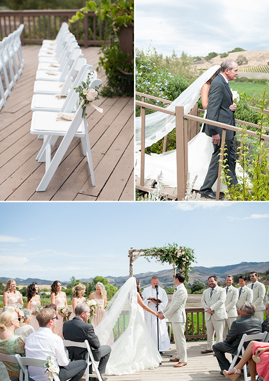 patio wedding ceremony @weddingchicks