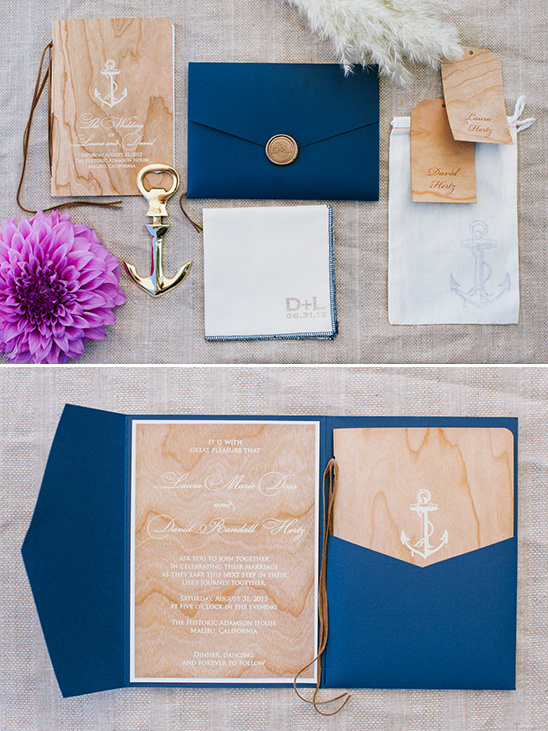 nautical invitation suite @weddingchicks