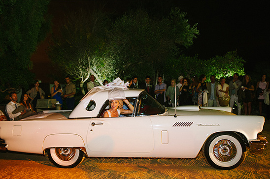wedding getaway car @weddingchicks