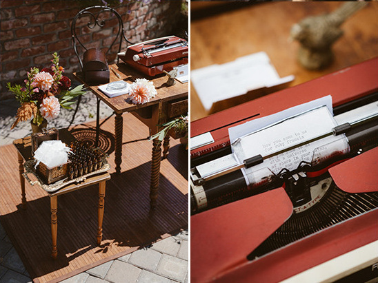 type writer guest book @weddingchicks