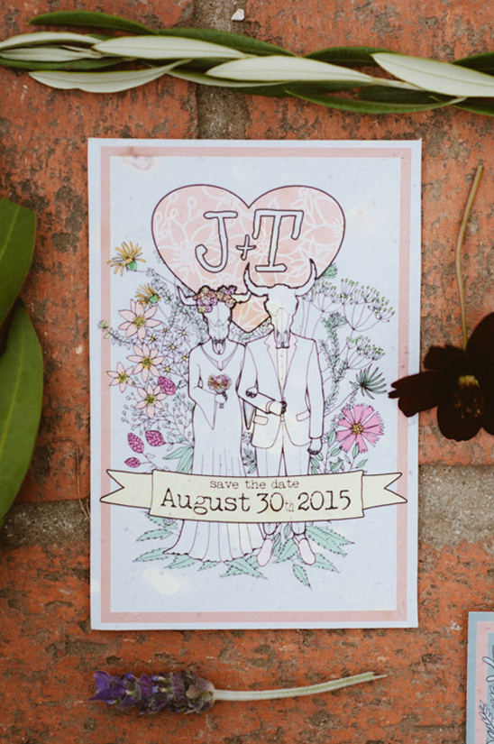 southwestern wedding invitation @weddingchicks