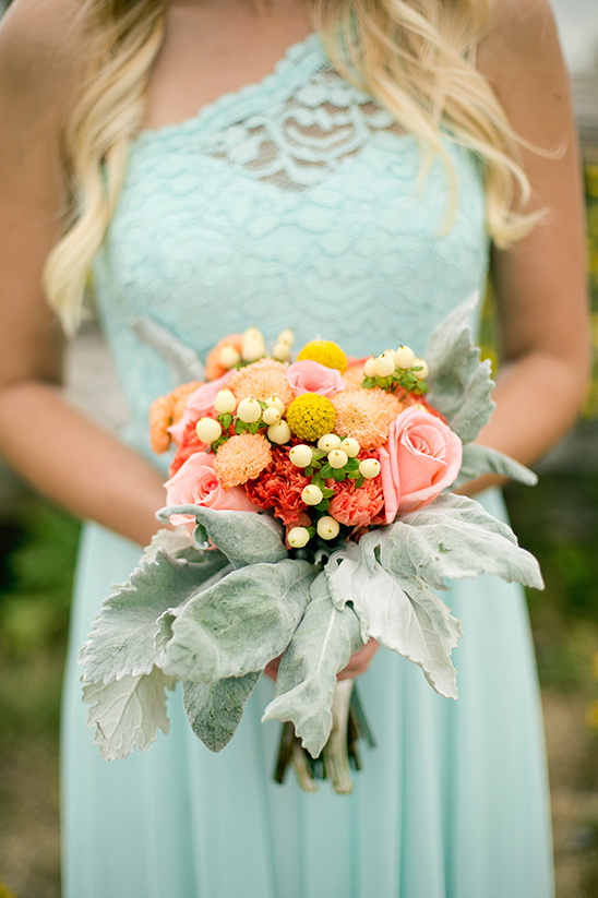 warm hues bridesmaid bouquet @weddingchicks