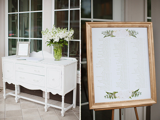 guest book and seating assignments @weddingchicks