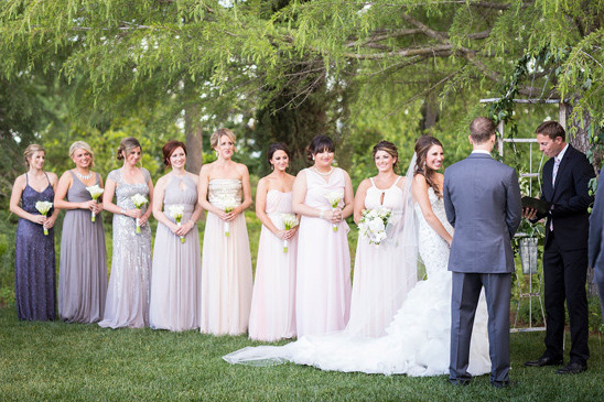 ombre bridesmaids @weddingchicks