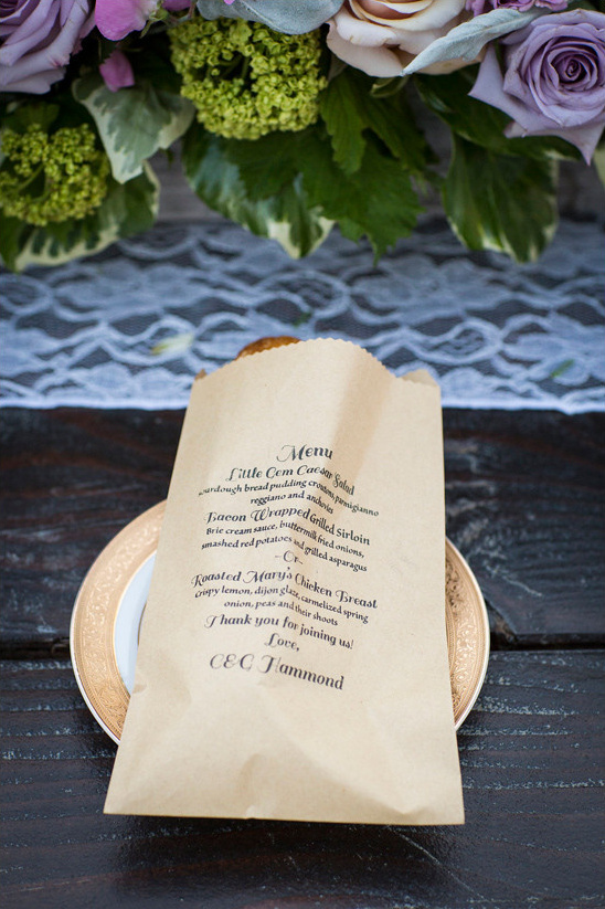 wedding menu @weddingchicks