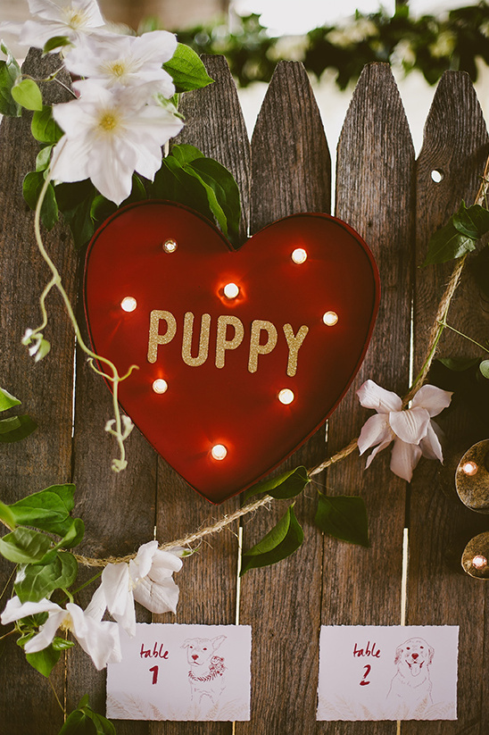puppy love seating sign @weddingchicks