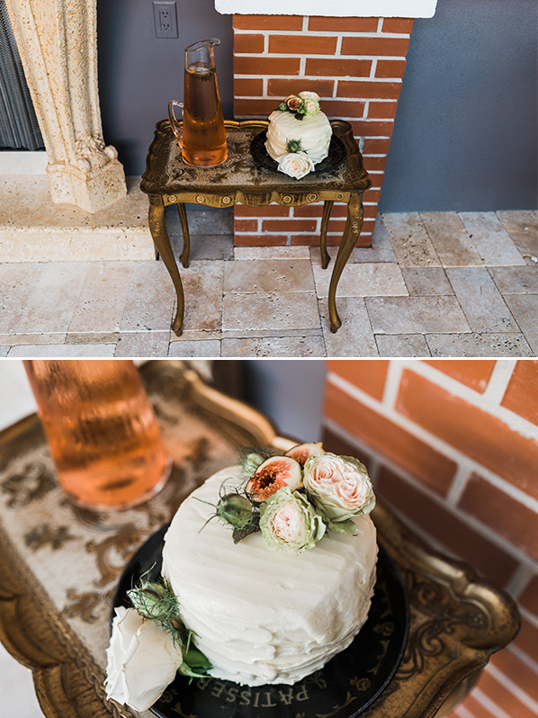 small white naked cake @weddingchicks