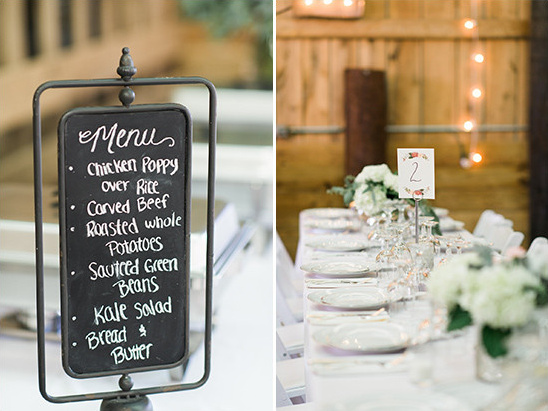 menu and table number @weddingchicks