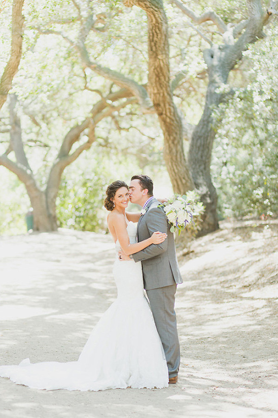 Rustic Purple And White Outdoor Wedding