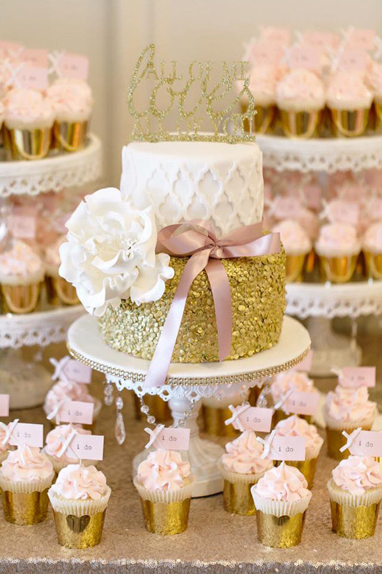 Blog A Pink And Gold Reception You Wont Believe
