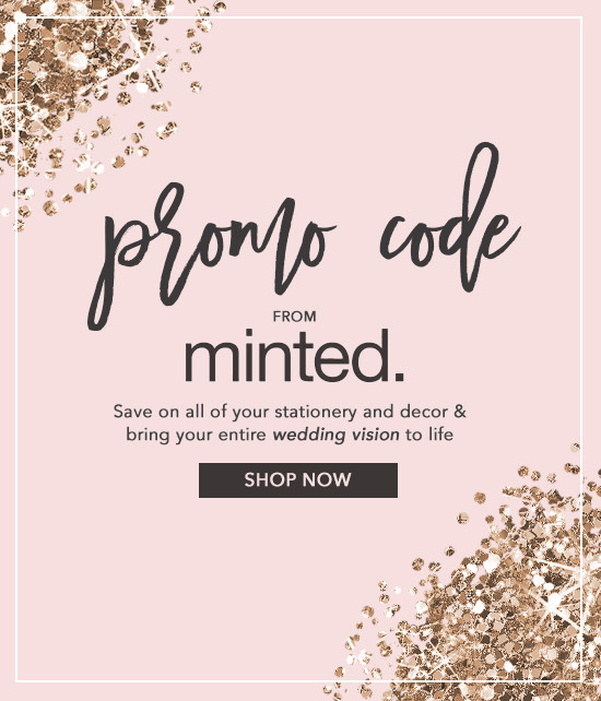 minted wedding save the dates promo code @weddingchicks