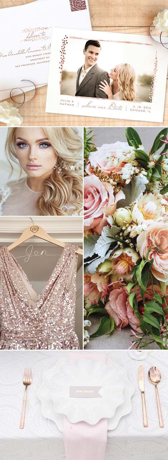 rose gold wedding ideas @weddingchicks