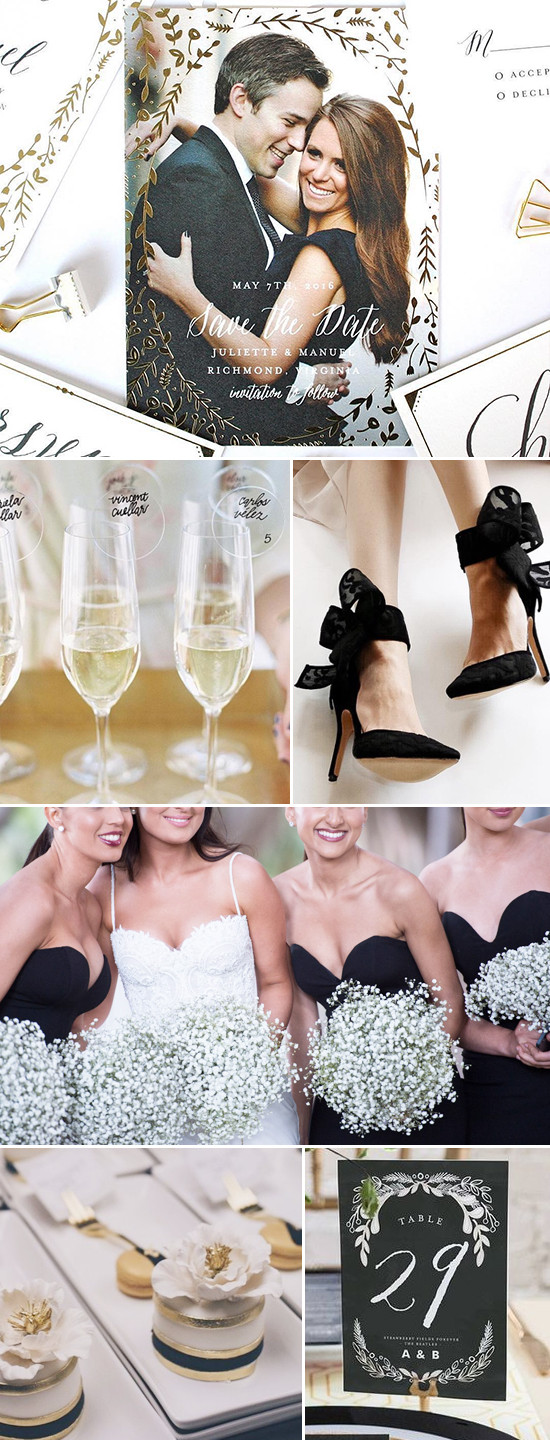 black and gold wedding ideas @weddingchicks