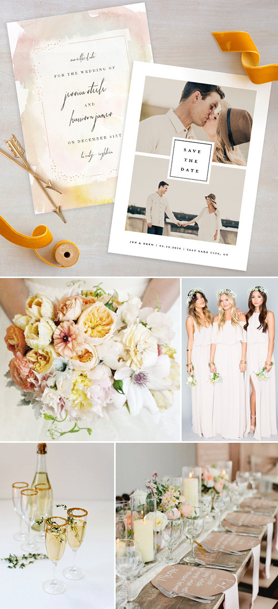 boho chic refined wedding @weddingchicks