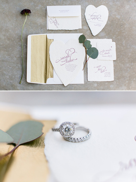 gold and white wedding stationery @weddingchicks
