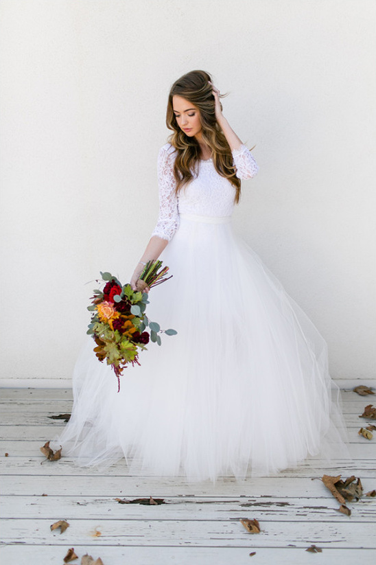 white wedding dress @weddingchicks