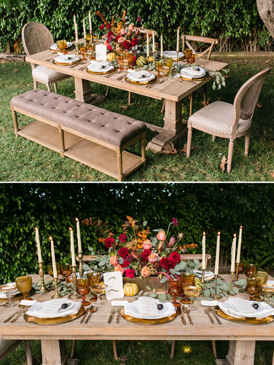 beautiful fall table setting @weddingchicks